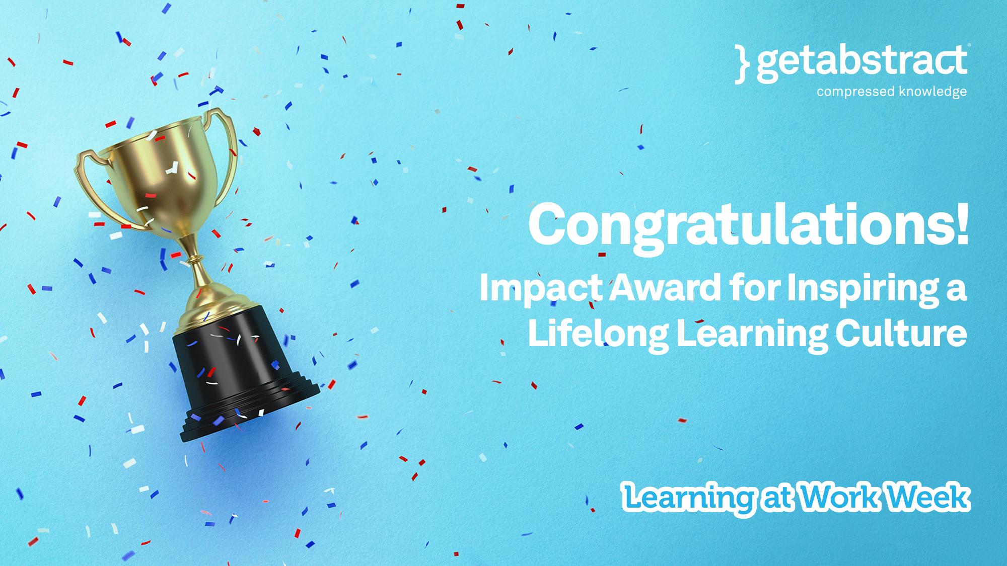 Learning at Work Week Impact Awards
